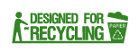 Designed for recycling-Logo